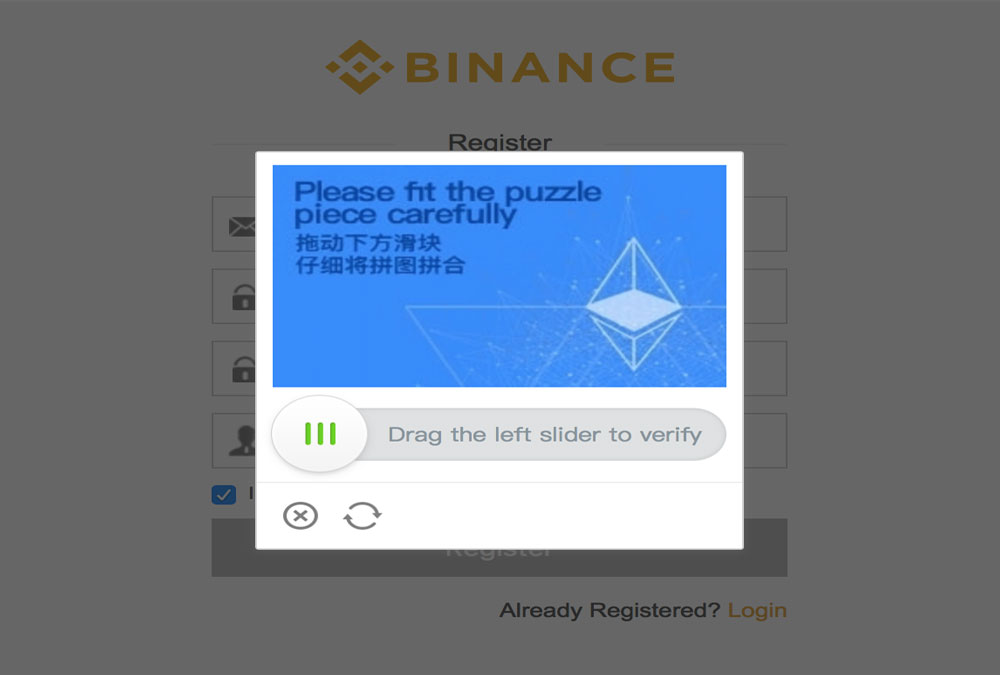 seguridad binance puzzle