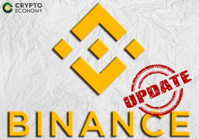 binance update