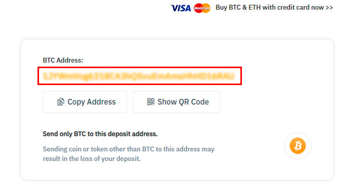 Binance btc-address