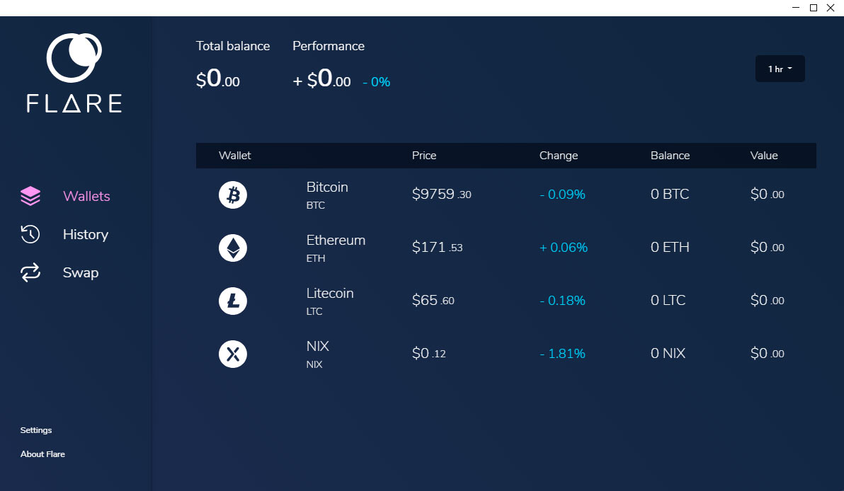 flare-wallet-interface