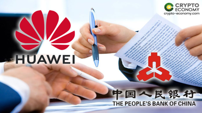 Huawei firma un MoU con el Banco Popular de China (PBoC)