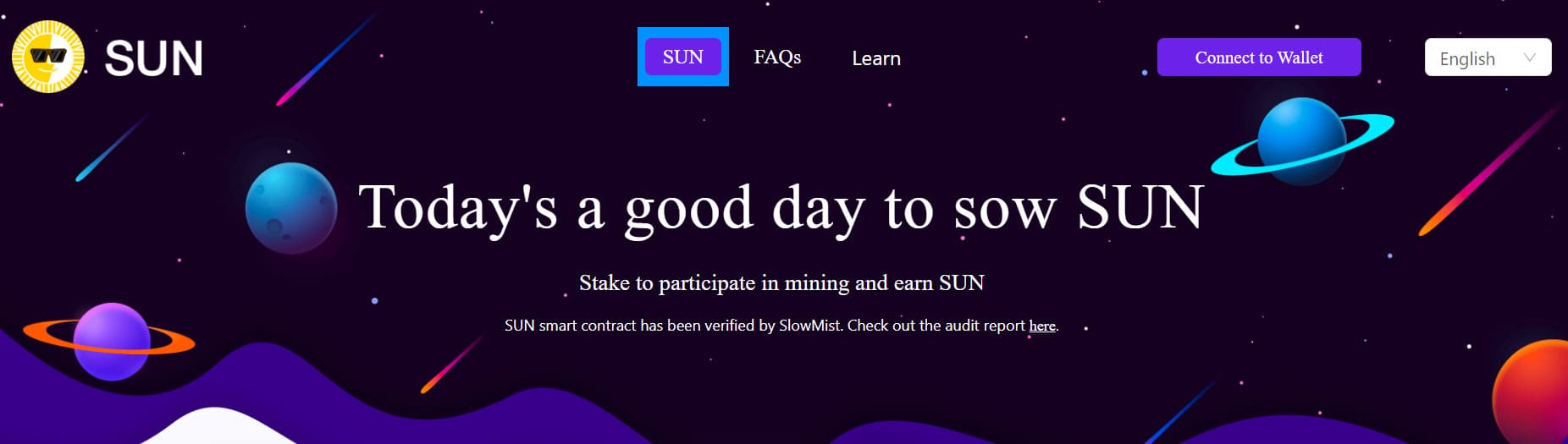stake trx for sun