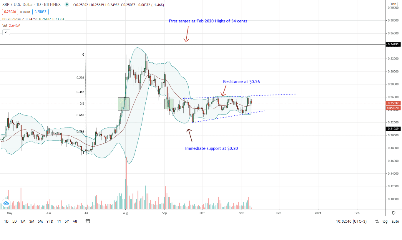 Ripple Daily Chart for Nov 9