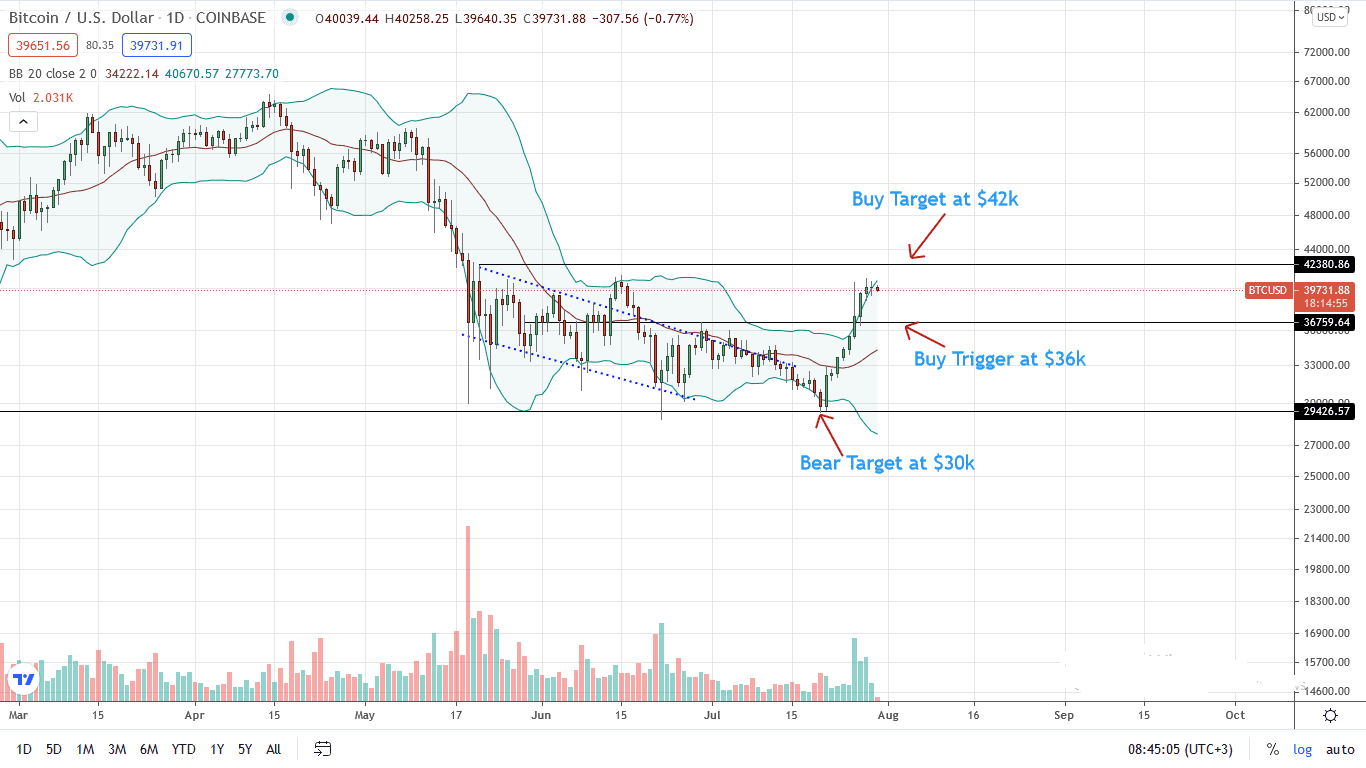 Bitcoin Price Daily Chart for July 30